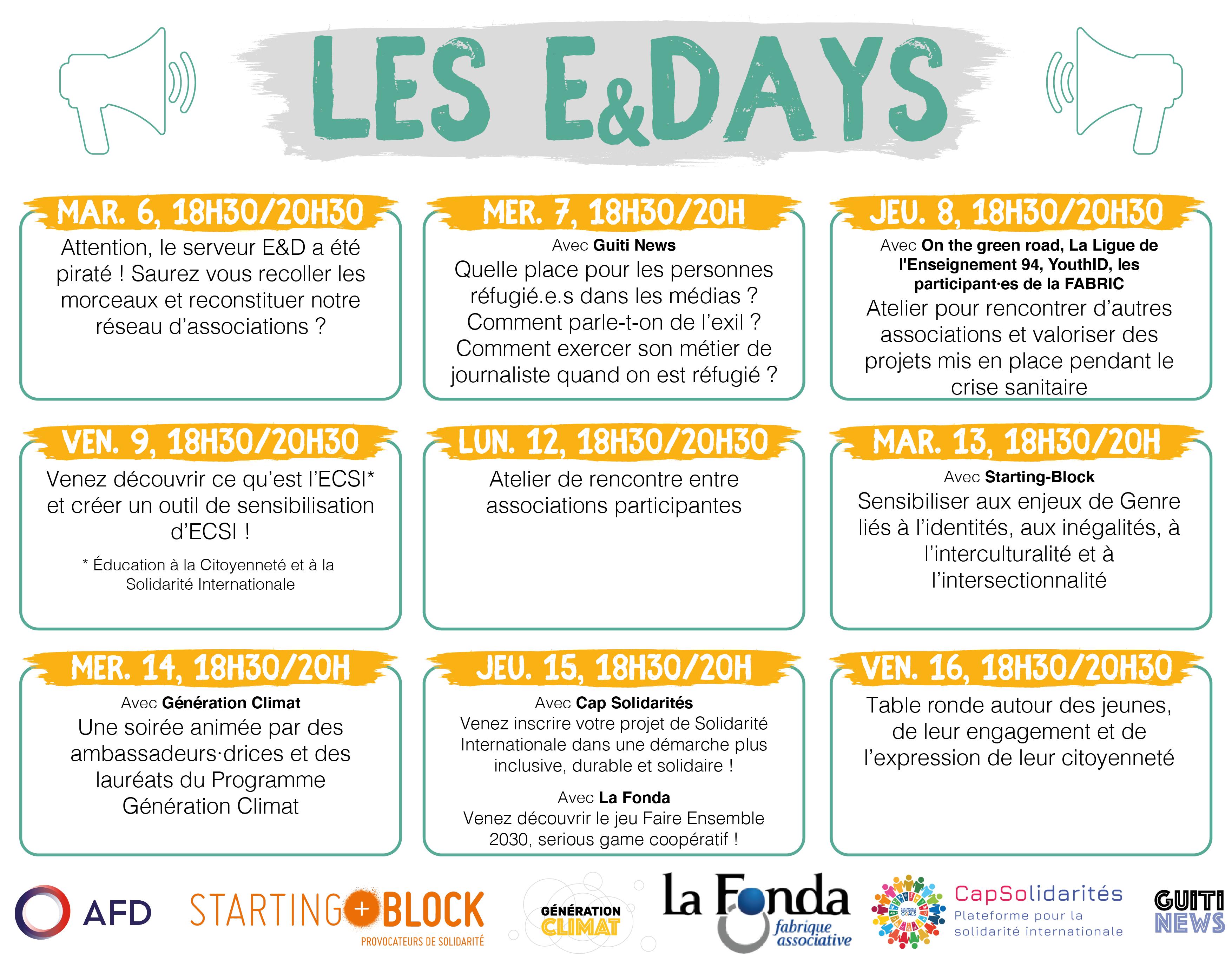 Programme des E&Days
